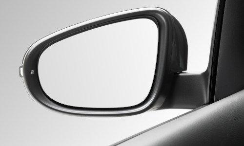 Linker Außenspiegel von einem Fahrzeug